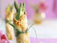 Crêpes mit grünem Spargel Rezept