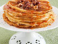 Crepes mit Karamell und Nüssen Rezept