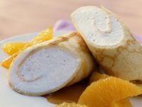 Crêpes mit Orangenlikör-Creme und Orangenfilets Rezept