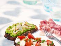 Crostini und Avocadodip Rezept