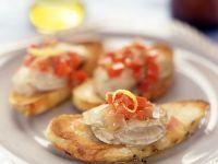 Crostinis mit Austern
