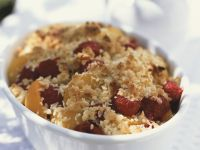 Crumble mit Himbeeren und Aprikosen Rezept
