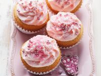 Cupcakes mit rosa Frosting