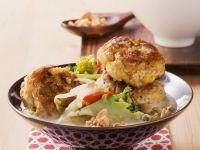 Curry-Frikadellen mit Kokos-Gemüse Rezept