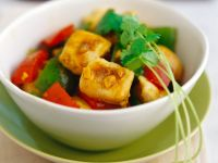 Curry-Hähnchen mit Paprika Rezept