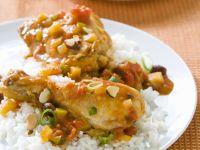 Curry-Hähnchen mit Reis