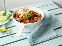 Curry mit Auberginen und Kichererbsen Rezept