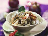 Curry mit Mangostane und Venusmuscheln Rezept
