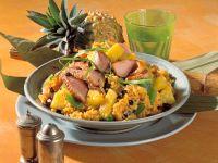 Curry-Reis mit Ananas und Ente Rezept