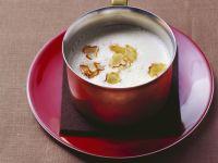 Curry-Sellerie-Suppe mit geräucherter Gänsebrust Rezept