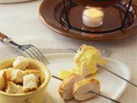 Curryfondue mit Hähnchen Rezept