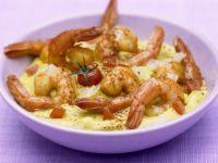 Currygarnelen mit bunten Kartoffelbrei Rezept