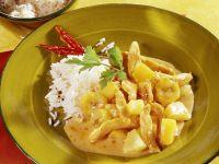 Currygeschnetzeltes mit Hähnchen und Früchten Rezept