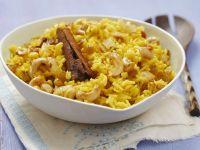 Curryreis mit Sultaninen und Cashewkernen Rezept