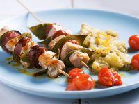 Deftige Schweinefleisch-Spieße mit Aubergine Rezept