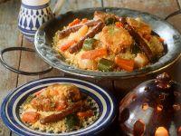 Deftiger Couscous mit Fleisch und Gemüse Rezept
