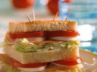 Doppel-Putensandwich Rezept