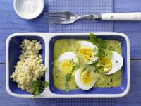 Eier in Curry-Senf-Sauce