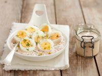Eier in Meerrettichsauce mit Rübchen Rezept