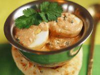 Eier in Moghlai-Soße