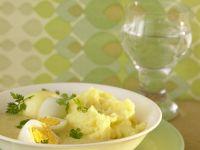 Eier mit Senfsauce und Kartoffelpüree Rezept