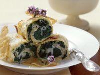 Eierkuchen mit Speck und Spinat Rezept