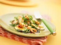 Eiersalat mit Garnelen Rezept