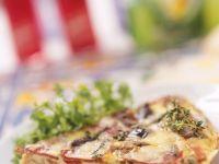 Ein Stück Gemüse-Kräuter-Frittata Rezept