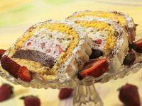 Eistorte mit Baiser überbacken Rezept