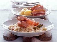 Elsässer Sauerkrautplatte (Choucroute garnie) Rezept