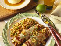 Enchilasdas mit Hähnchen und Oliven Rezept