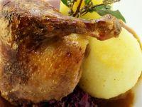 Ente mit Blaukraut und Kartoffelkloß Rezept