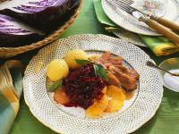 Ente mit Gewürz-Rotkohl Rezept