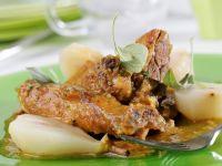 Ente mit Mandel-Birnensauce Rezept
