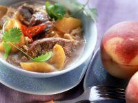 Ente mit Pfirsich in Kokos-Weinsauce Rezept