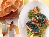 Erbsen in Currycreme mit Schnitzelchen Rezept