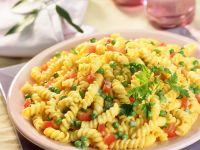 Erbsen-Tomaten-Pasta Rezept