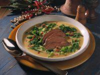 Erbsen-Wirsing-Suppe Rezept