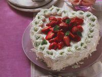 Erdbeer-Herztorte Rezept