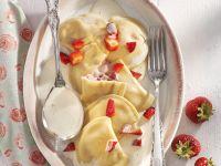 Erdbeer-Ravioli mit Portwein-Sabayon Rezept