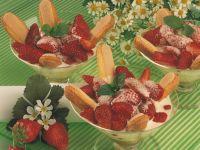 Erdbeeren mit Vanille-Zabaione Rezept