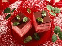 Erdbeerparfait-Würfel