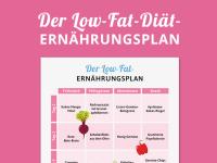 Ernährungsplan Low-Fat-Diät