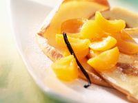 Essig-Aprikosen mit Pfannkuchen Rezept
