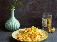 Exotische Pasta mit Limette-Physalis-Soße Rezept