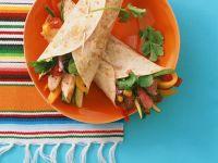 Fajitas mit Fleisch-Gemüsefüllung Rezept
