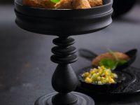 Falafel aus roten Linsen und Mango-Chutney Rezept