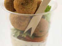 Falafel mit Joghurtdip Rezept