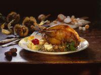 Fasanenbraten mit Maroni und Kartoffelbrei Rezept