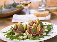 Feigensalat mit rohem Schinken, Mozzarella und Rucola Rezept
